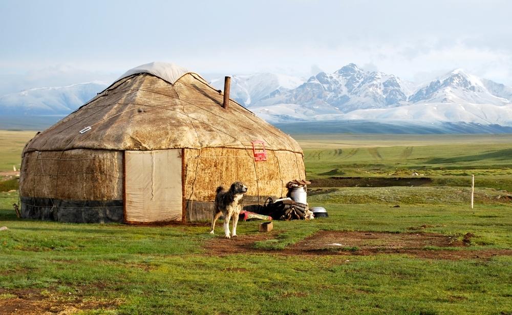 Paisaje de Kirguistán.