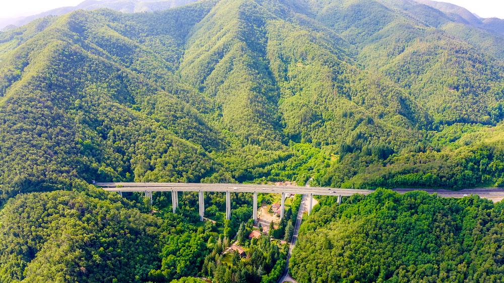 La autopista transeuropea a su paso por Italia.