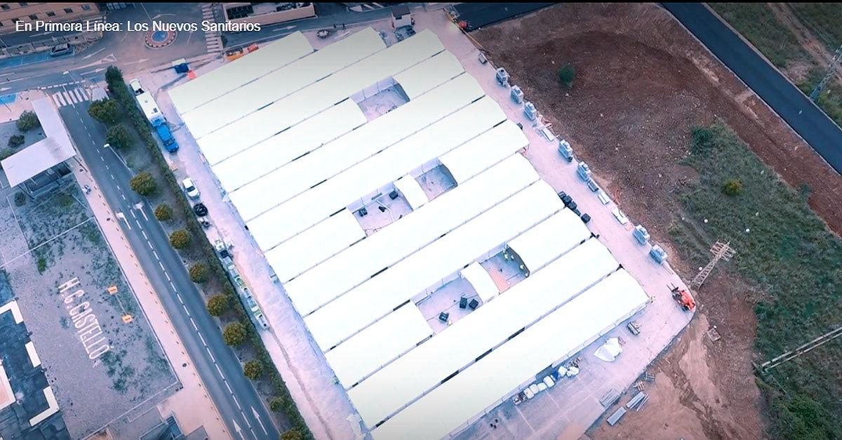 Imágenes de dron del Hospital General de Castellón.