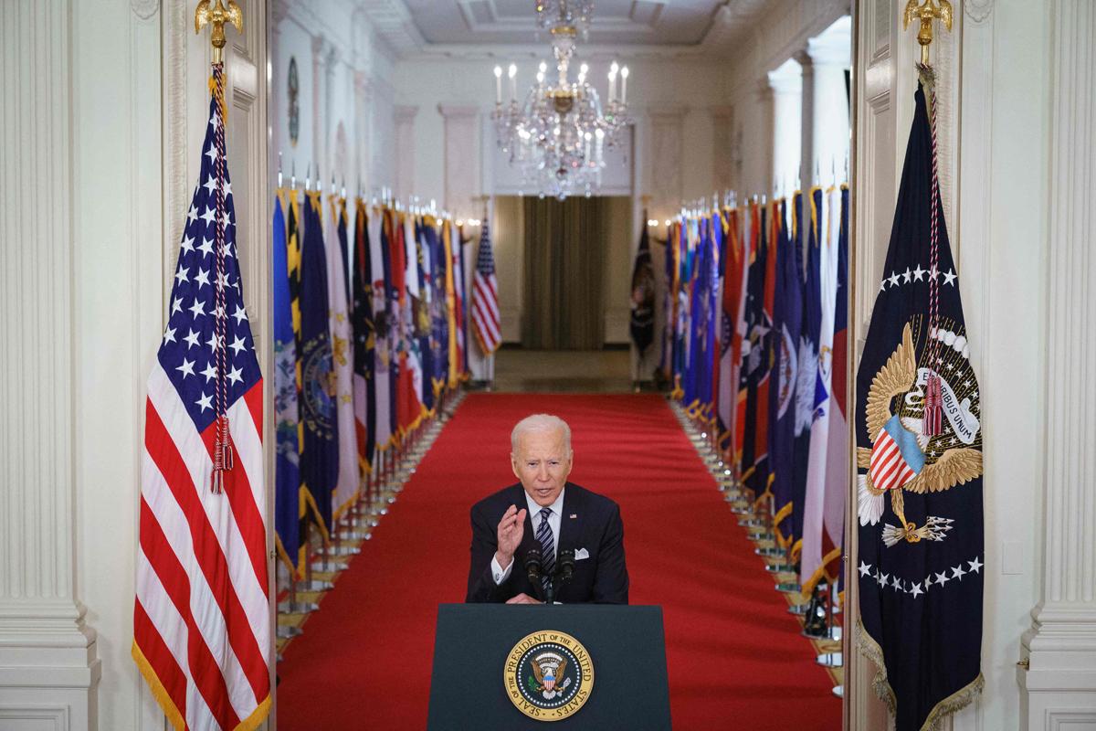 El presidente de EEUU, Joe Biden, en la Casa Blanca.