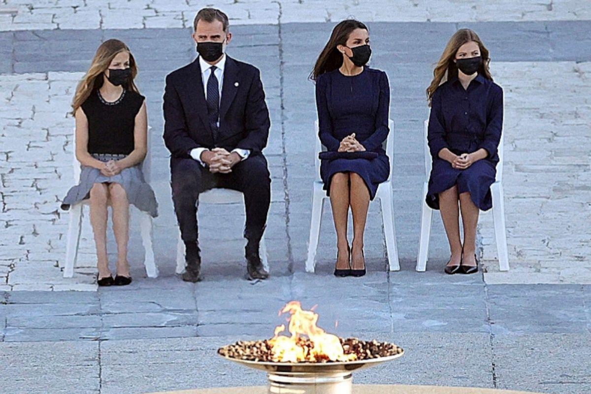 La Familia Real, en el homenaje de Estado a las víctimas del coronavirus.