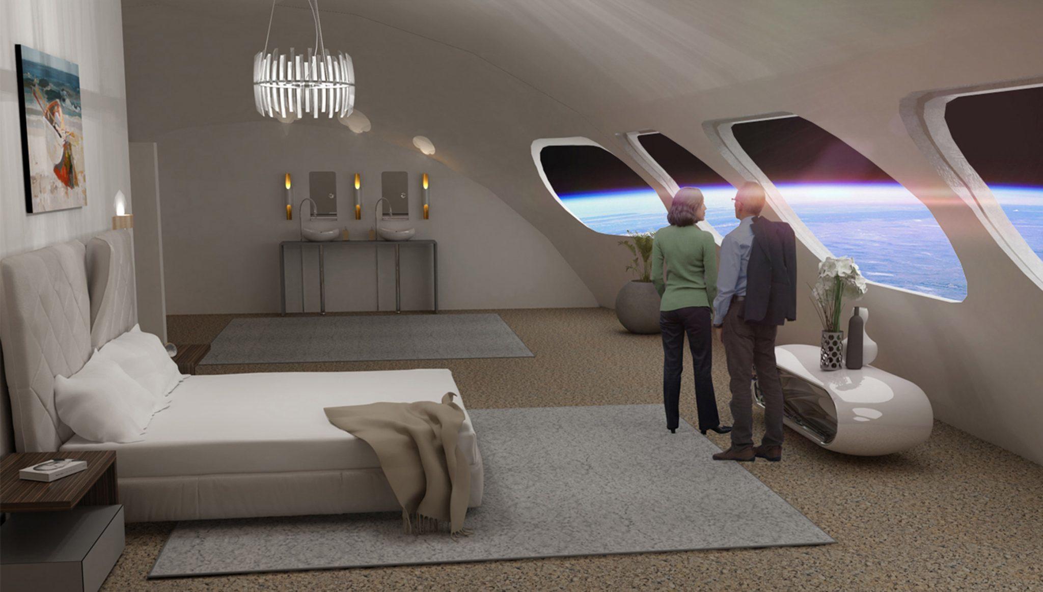 Una de las suites de la Voyager Station.