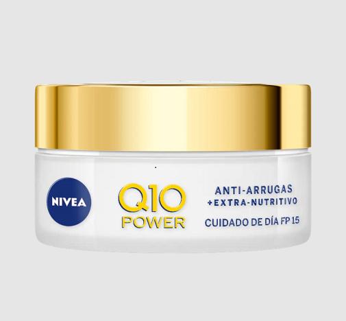 Cremas antiedad antioxidantes que hidratan mucho:  Q10 Power Antiarrugas de Nivea