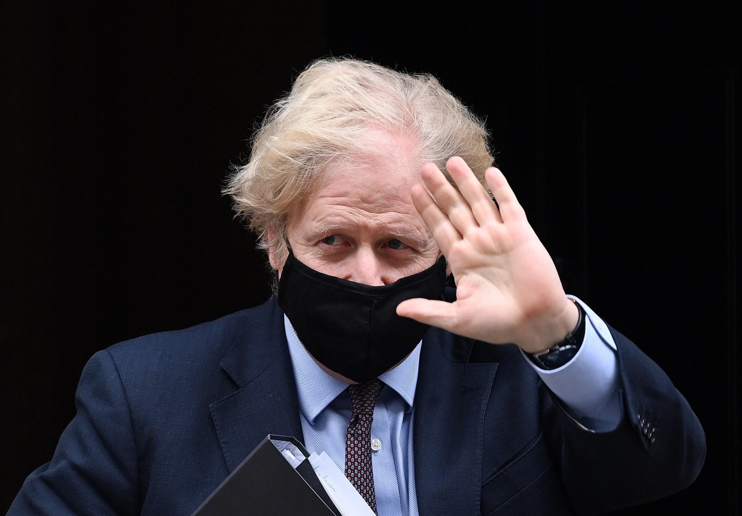El primer ministro de Reino Unido, Boris Johnson, este martes.