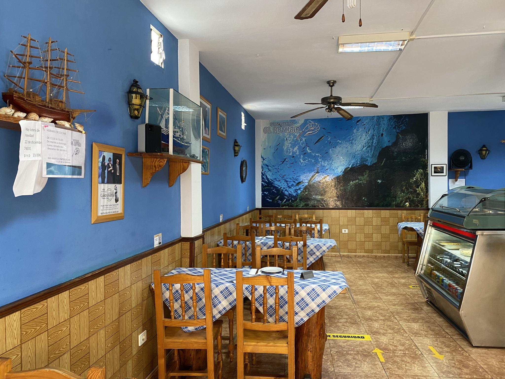 Restaurante El Refugio, en La Restinga.