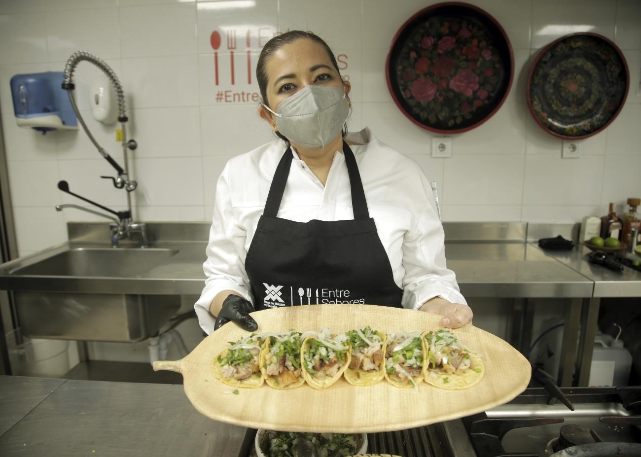 La chef Marcela  Zamudio.