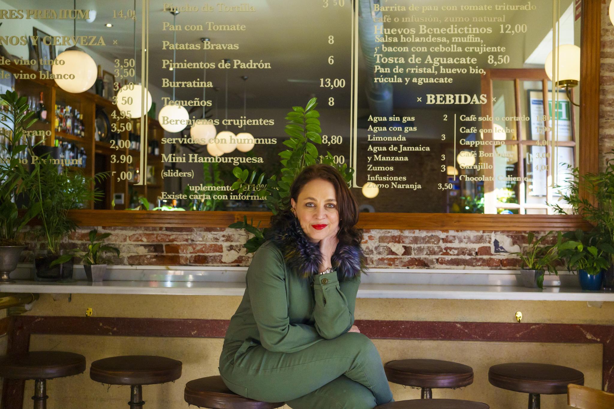 Eliza Arcaya, en su restaurante Café Murillo de Madrid.