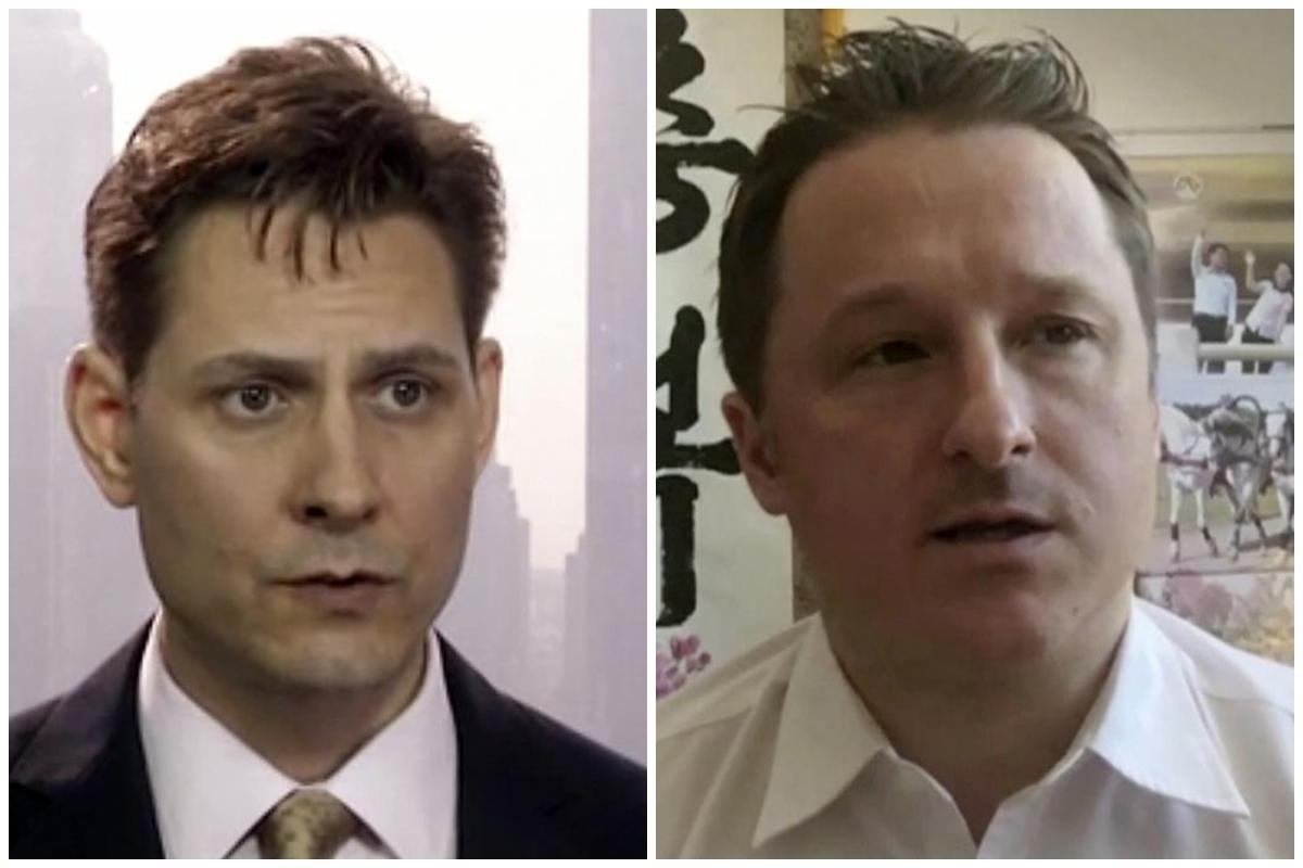 Los canadienses Michael Kovrig y Michael Spavor, acusados de espionaje en China.