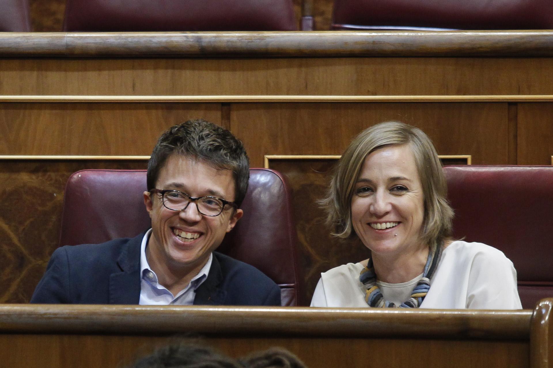 Íñigo Errejón y Tania Sánchez en el Congreso en 2018