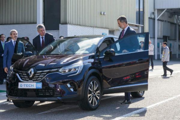 Felipe VI ya visitó Renault Valladolid a finales de 2019