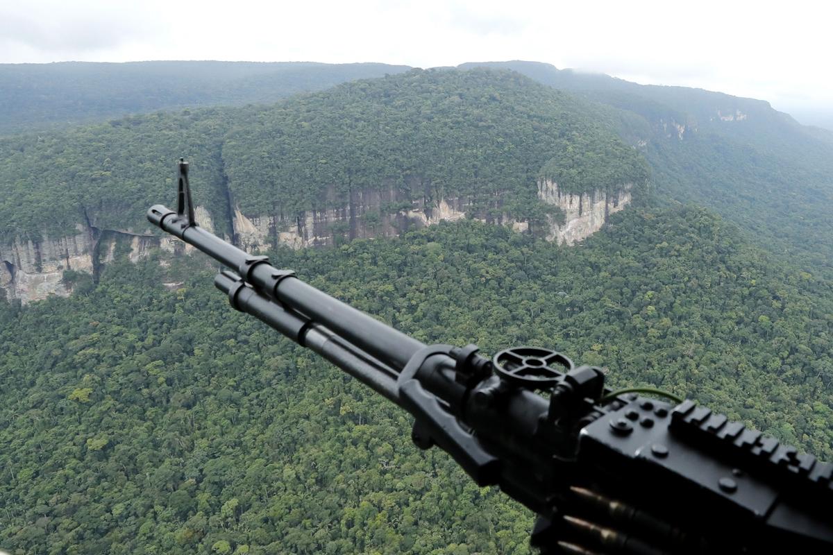 Fotografía aérea que muestra la serranía de Chiribiquete (Colombia).