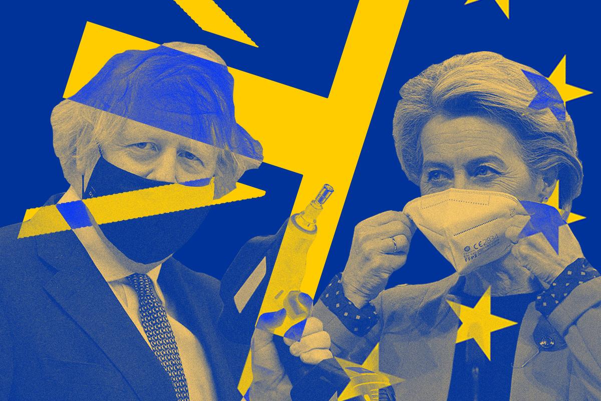 Boris Johnson y Ursula von der Leyen.