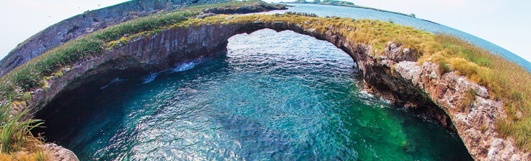 Imagen del tour virtual por el P. N. de Islas Marietas.