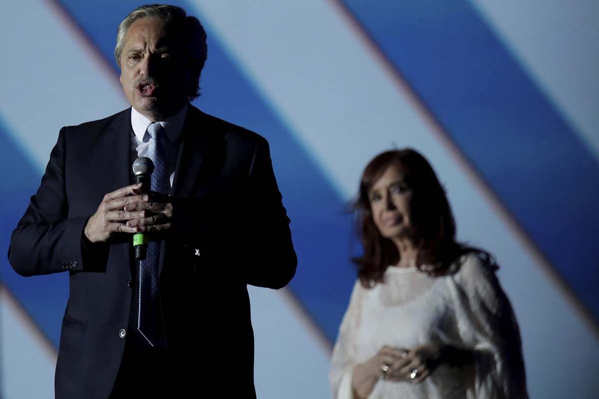 El presidente, Alberto Fernández, y la vicepresidenta, Cristina Kirchner.