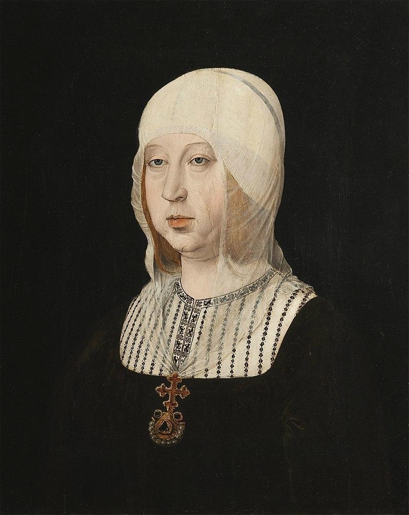 Retrato de la reina Isabel la Católica pintado por Juan de Flandes.