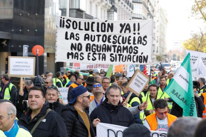 Imagen de una de las huelgas de examinadores en 2015 y 2017
