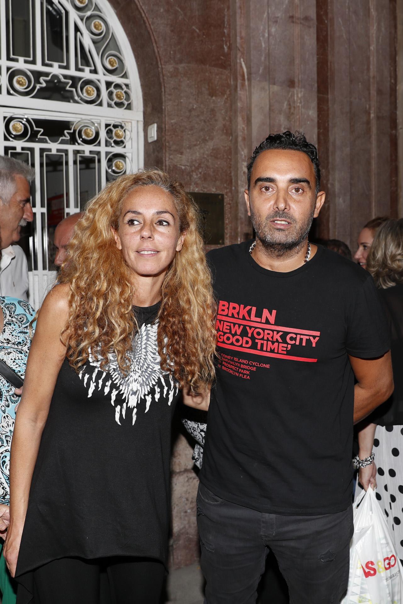 Rocío Carrasco y Fidel Albiac en una de sus últimas apariciones públicas, en septiembre de 2019, en Granada.