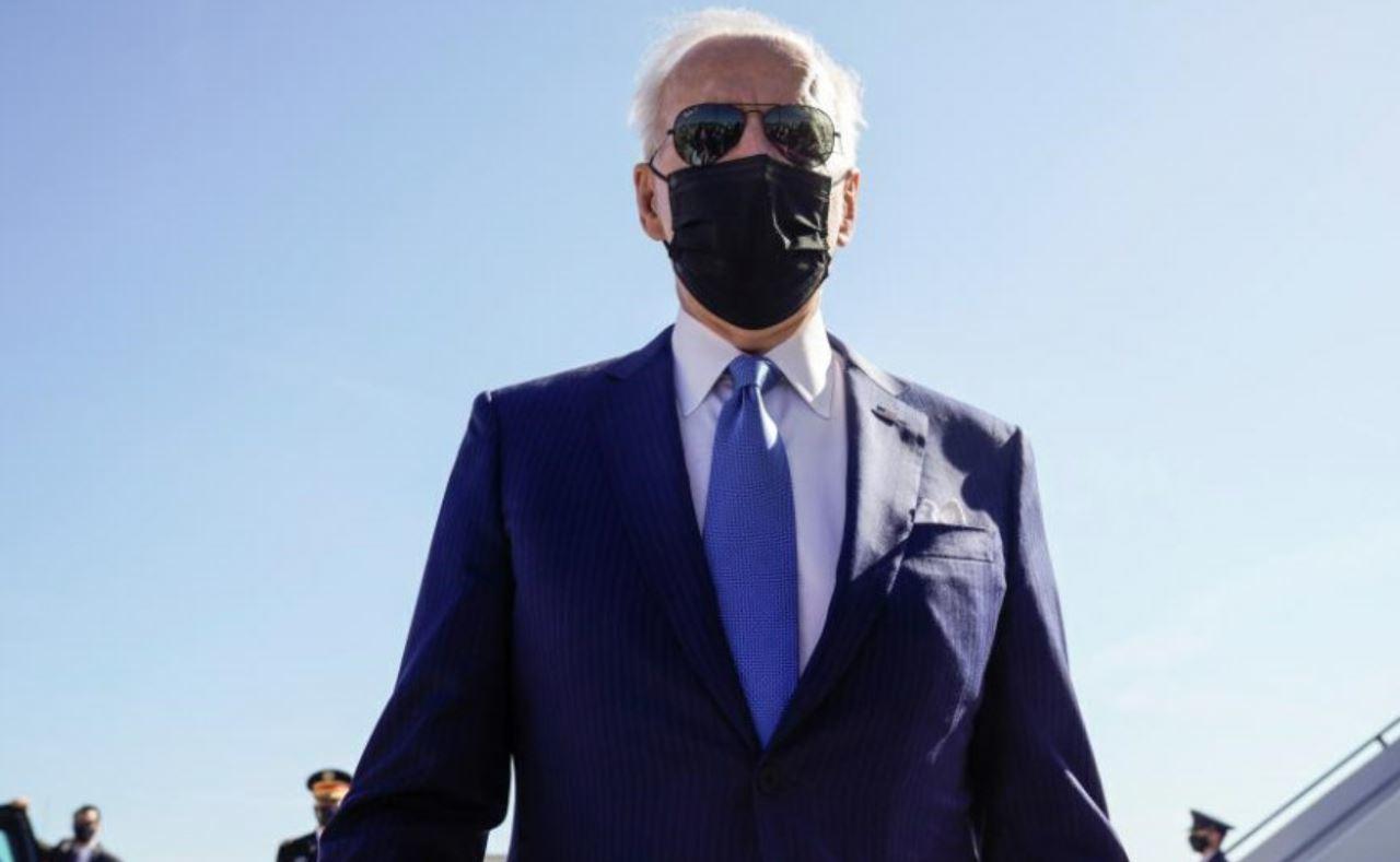 El presidente estadounidense, Joe Biden, en Newcastle.