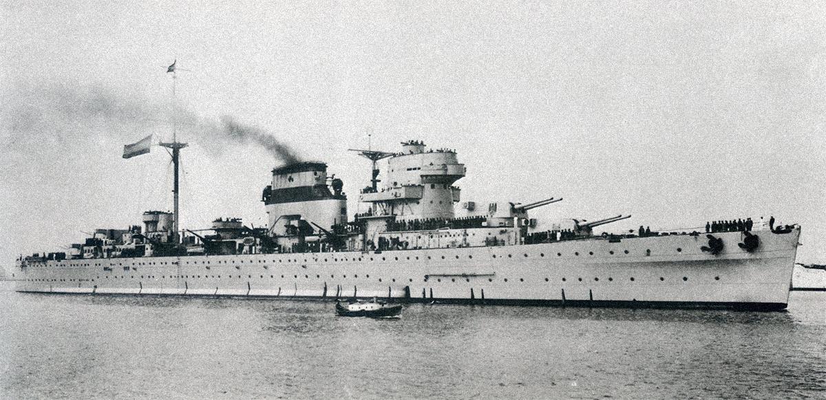 El buque de guerra 'Baleares'.