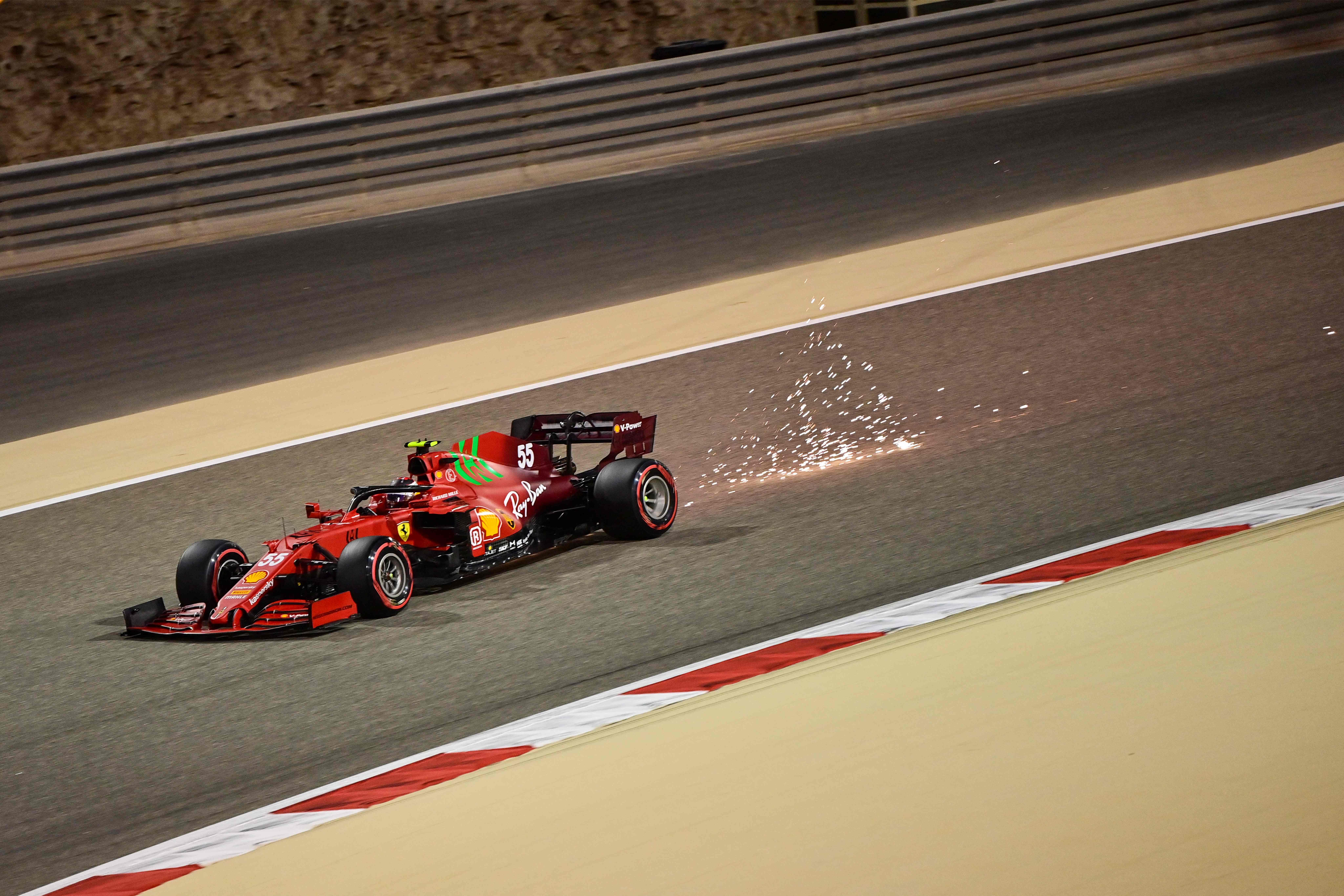 Carlos Sainz, durante la clasificación.
