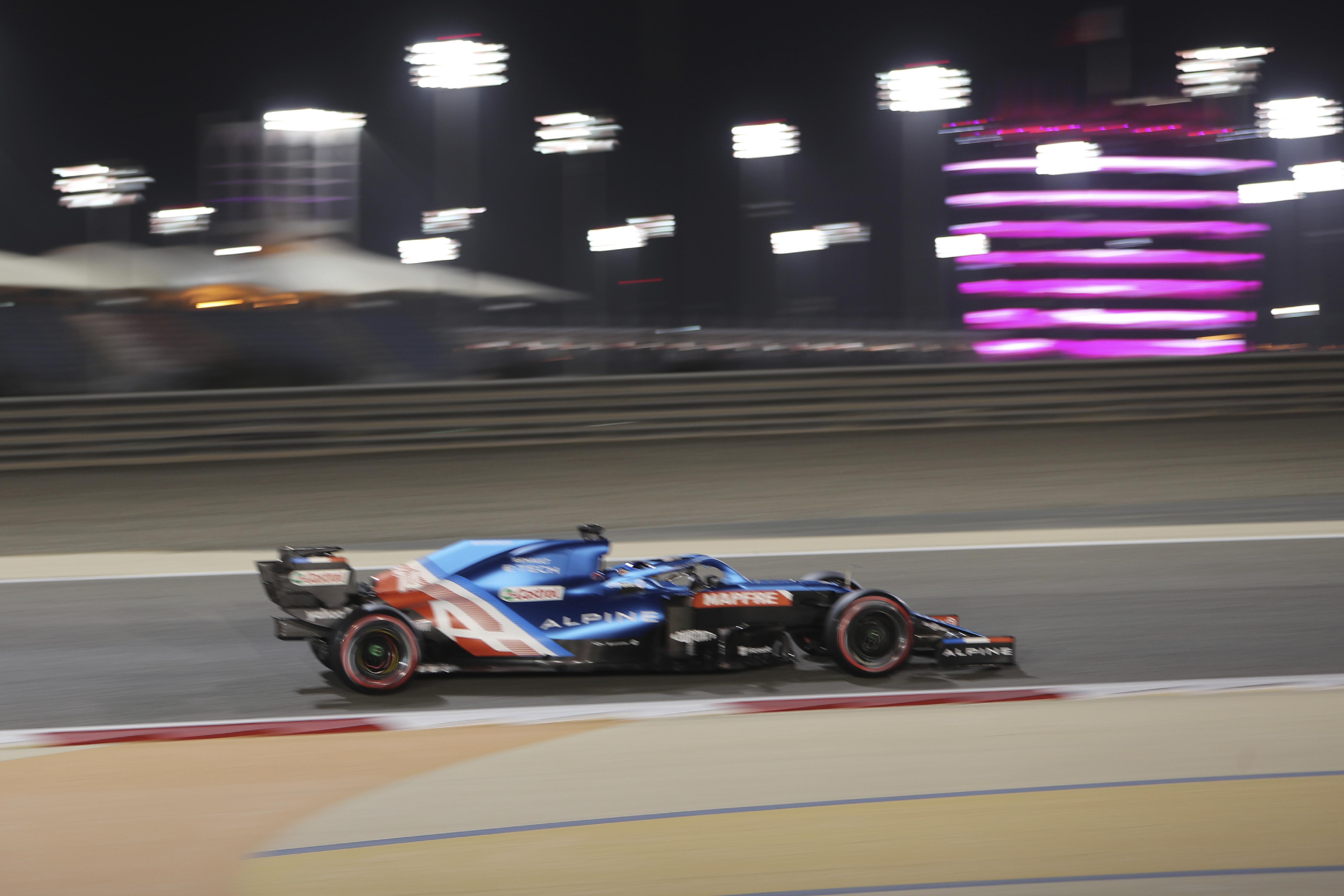 Alonso, este sábado en Bahrein.