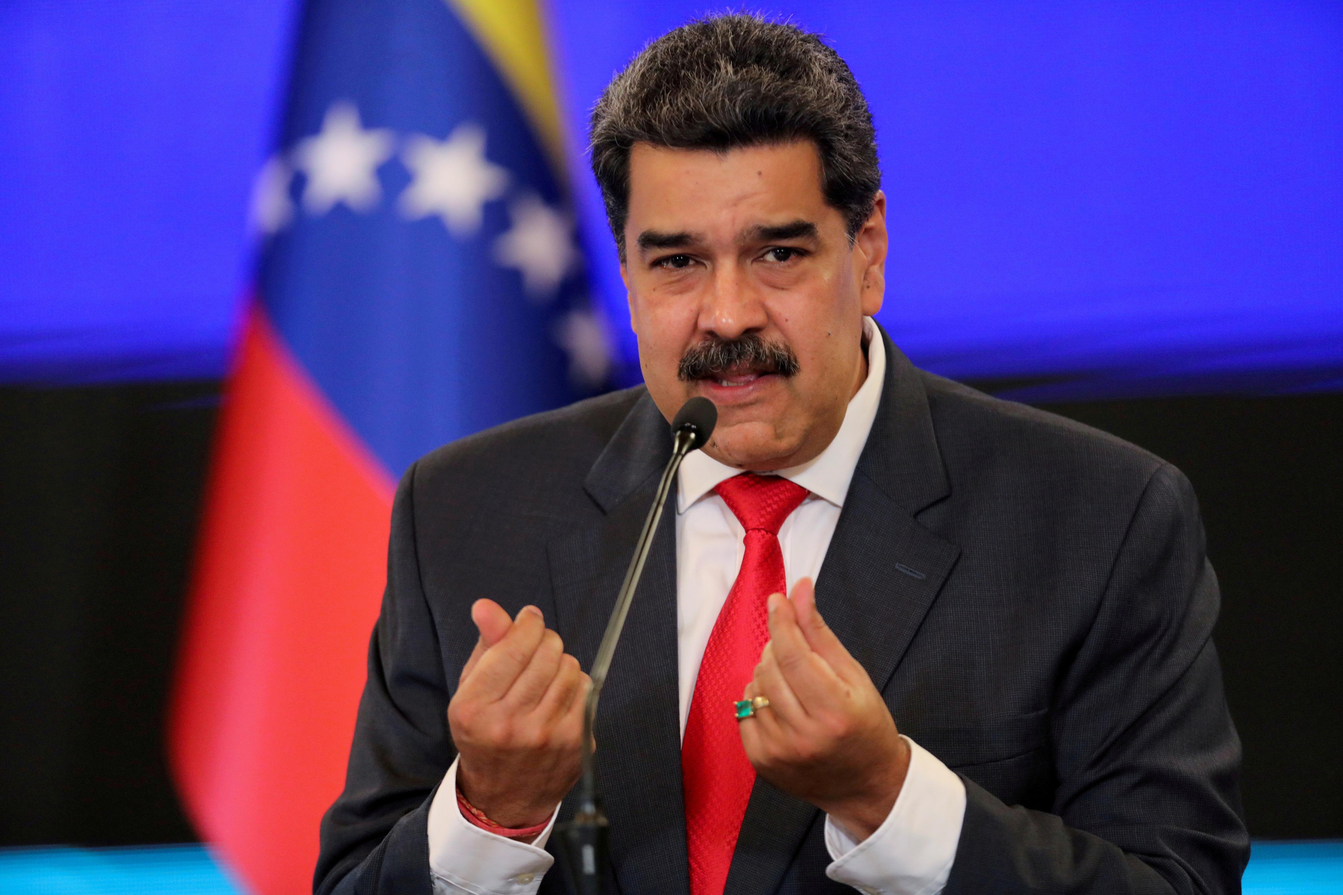 Nicolás Maduro en una rueda de prensa en Caracas.