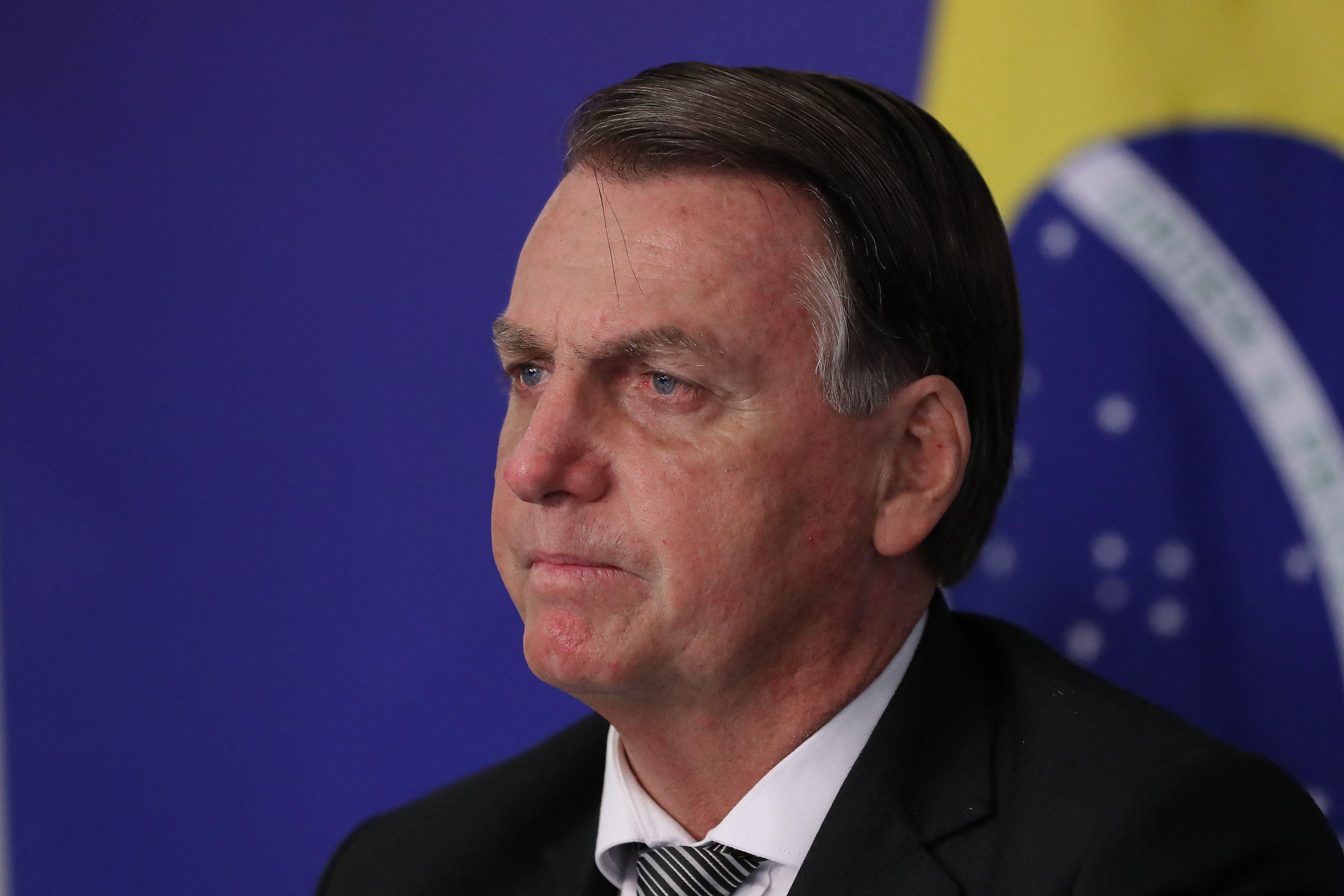 Jair Bolsonaro, en una reunión telemática de Mercosur.