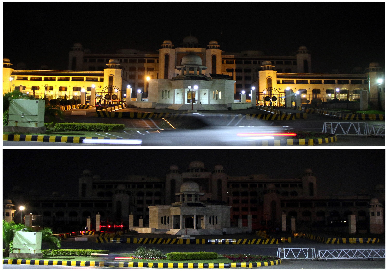 La sede del Gobierno en Islamabad, Pakistán.