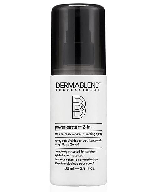 Fijador de Maquillaje Spray 2 en 1, de Dermablend.