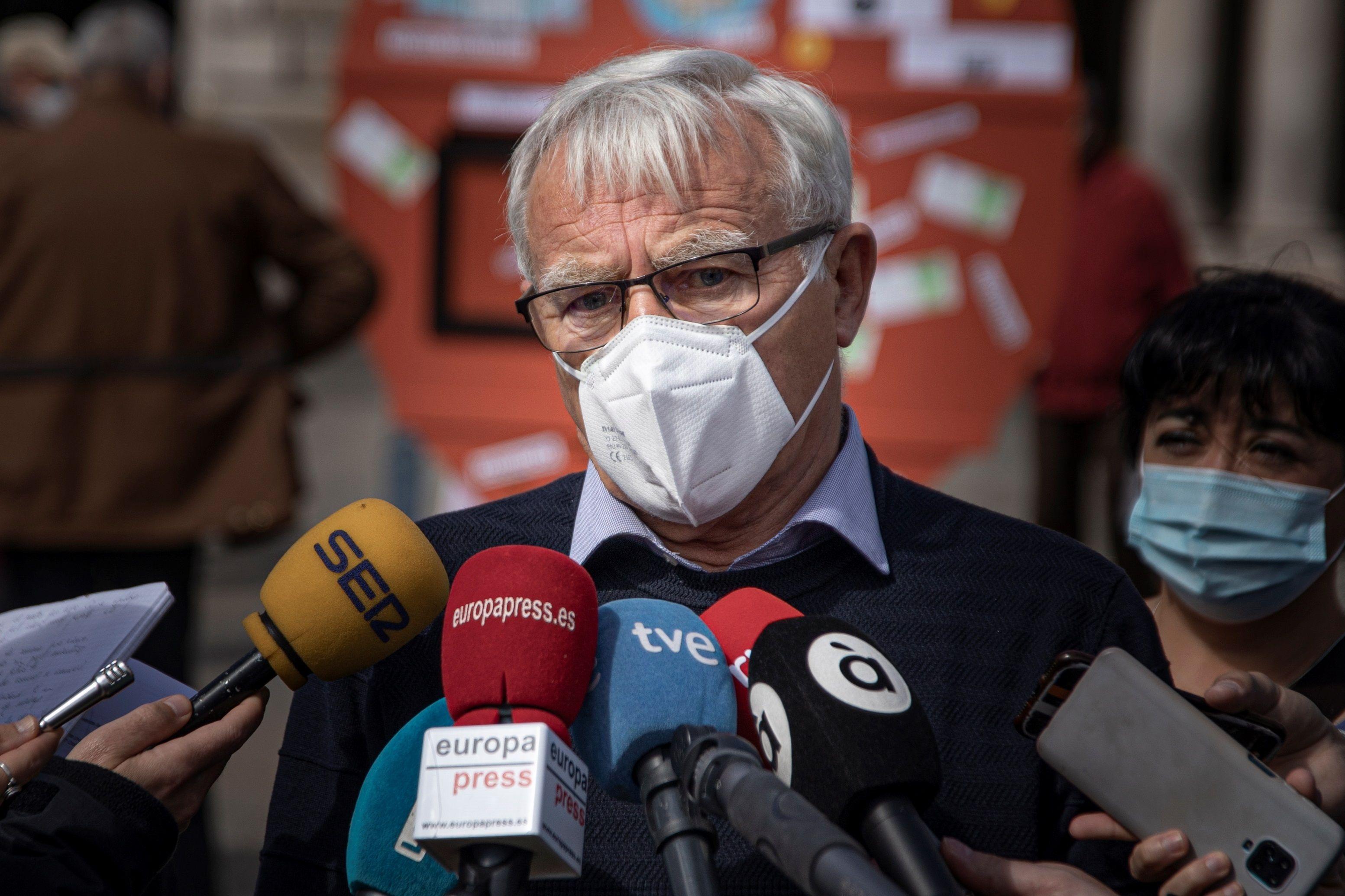 El alcalde de Valencia,  Joan Ribó, en un acto esta mañana.