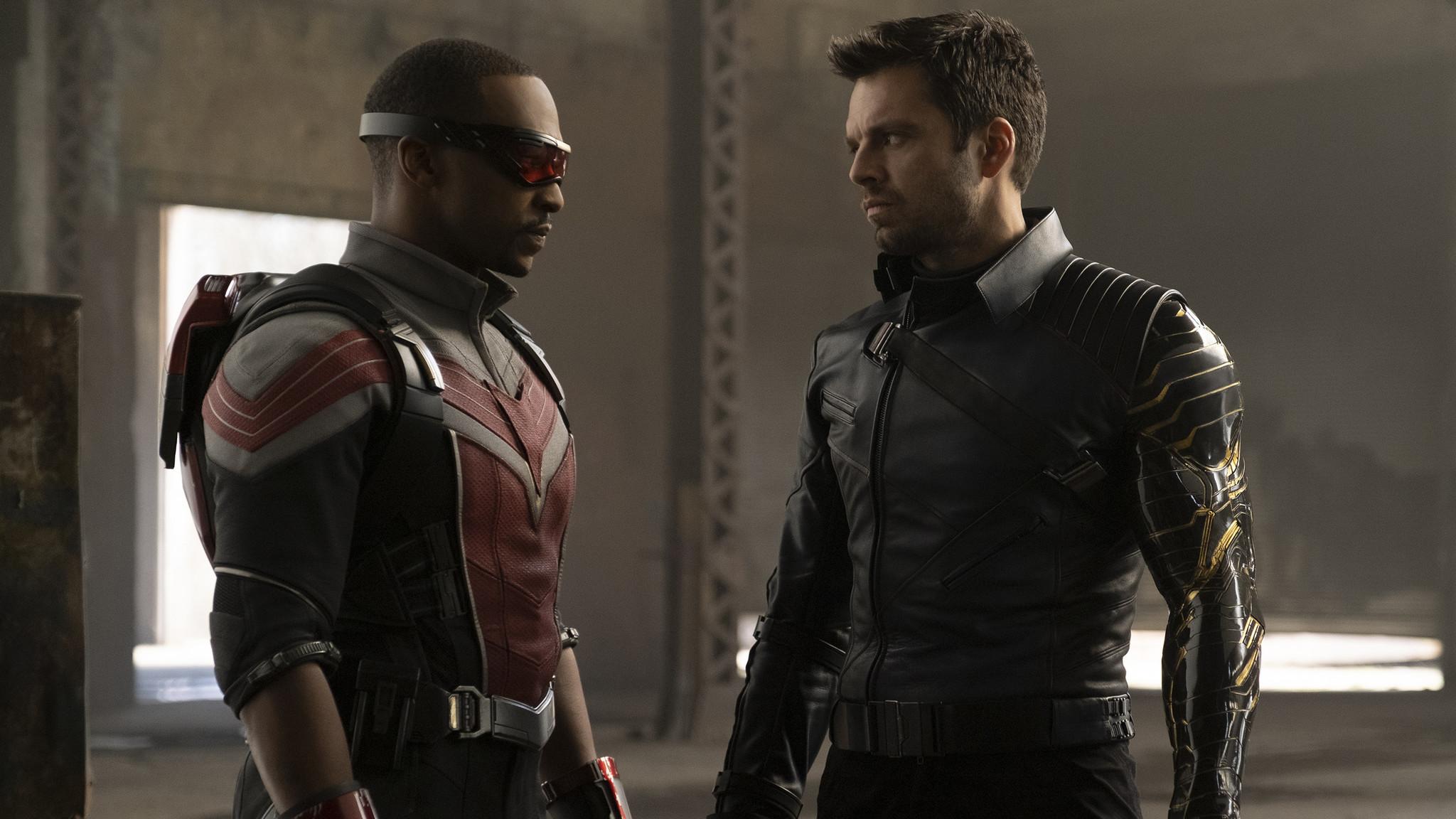 Falcon y el soldado de invierno: puritito Marvel