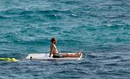 Sergio Ramos, este pasado verano, de vacaciones en Mallorca.