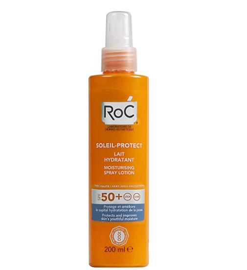 Protect Spray Hidratante Loción SPF 50, de RoC.
