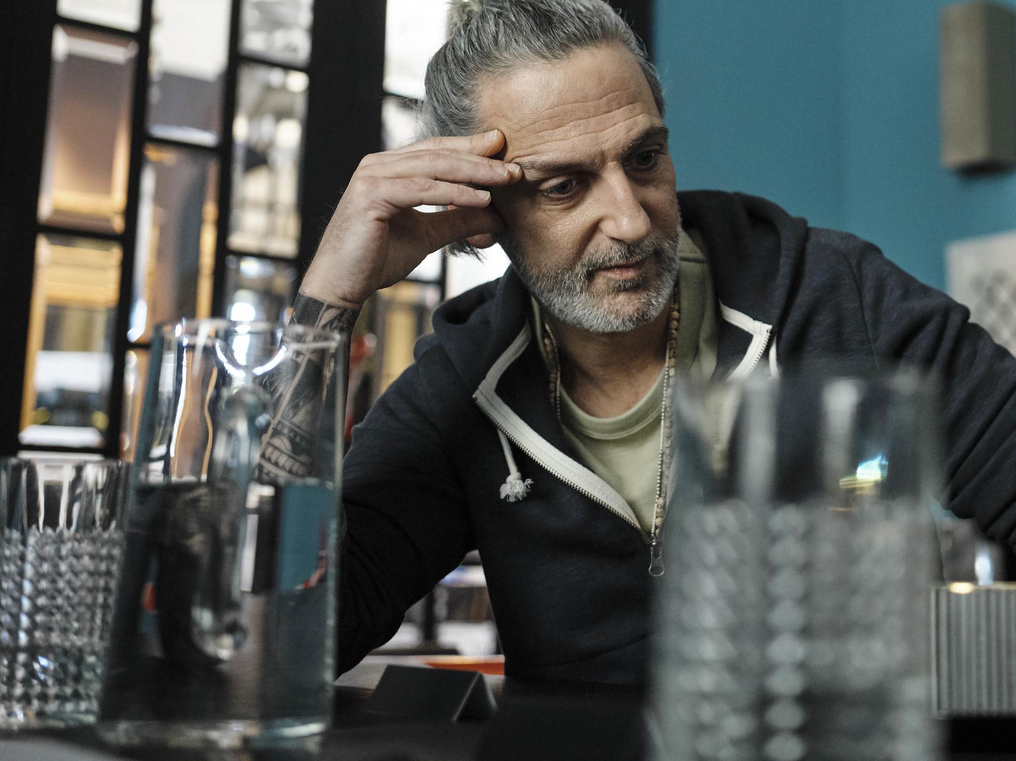 El actor Ernesto Alterio durante el rodaje de Mis Otros Yo.