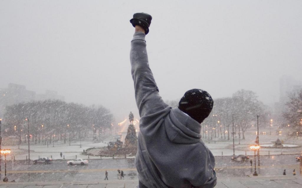 La imagen icónica de Stallone como Rocky