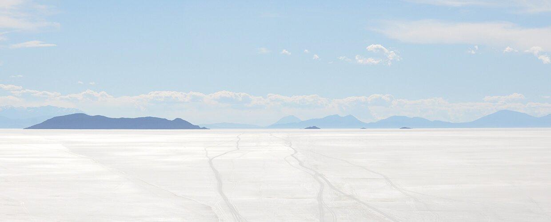El Salar de Uyuni, el más grande del mundo.