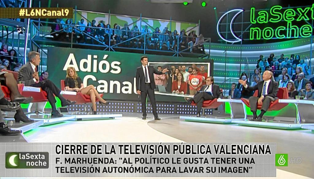Iñaki López modera un debate en La Sexta Noche
