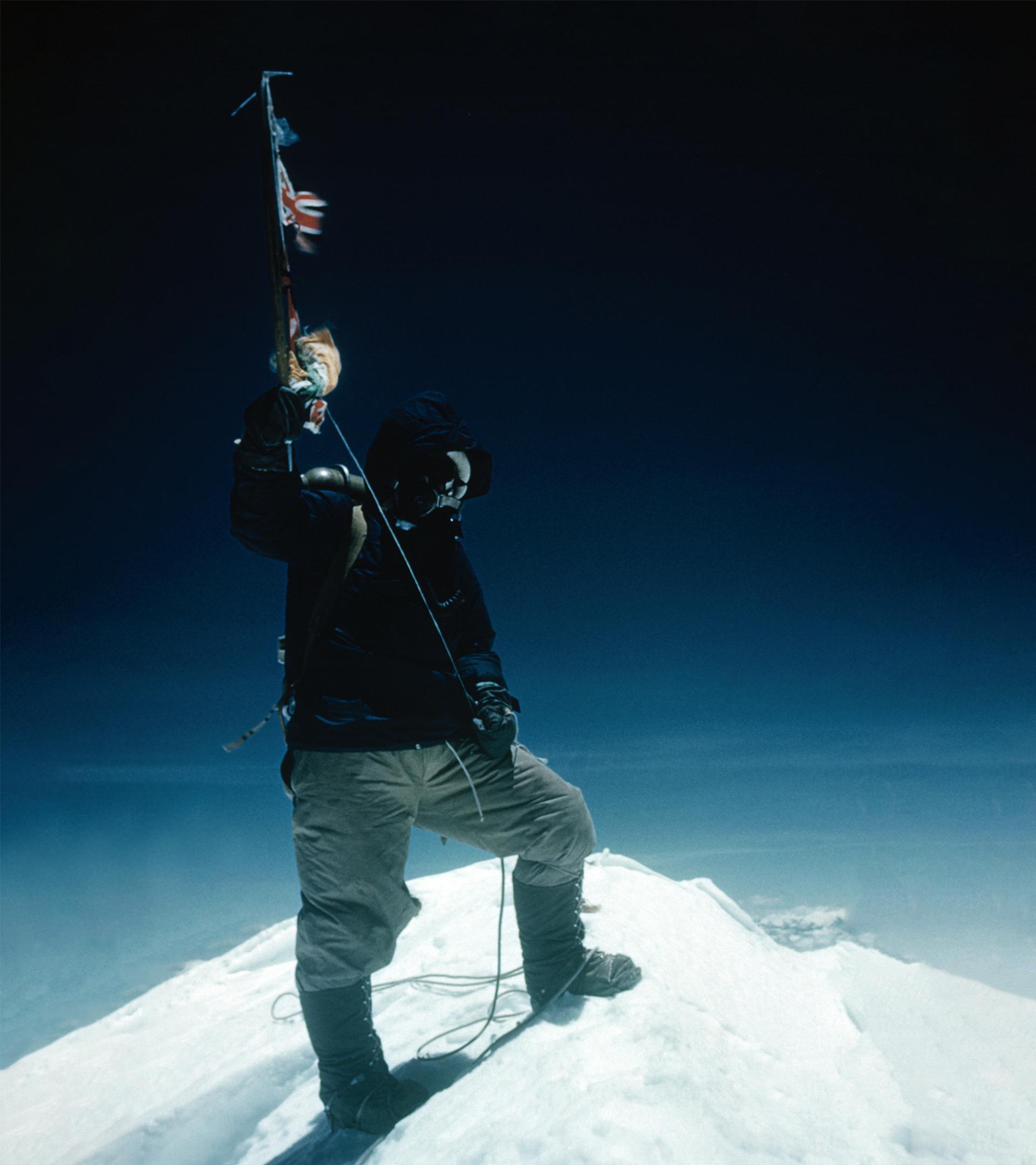 Norgay, nada más coronar el Everest