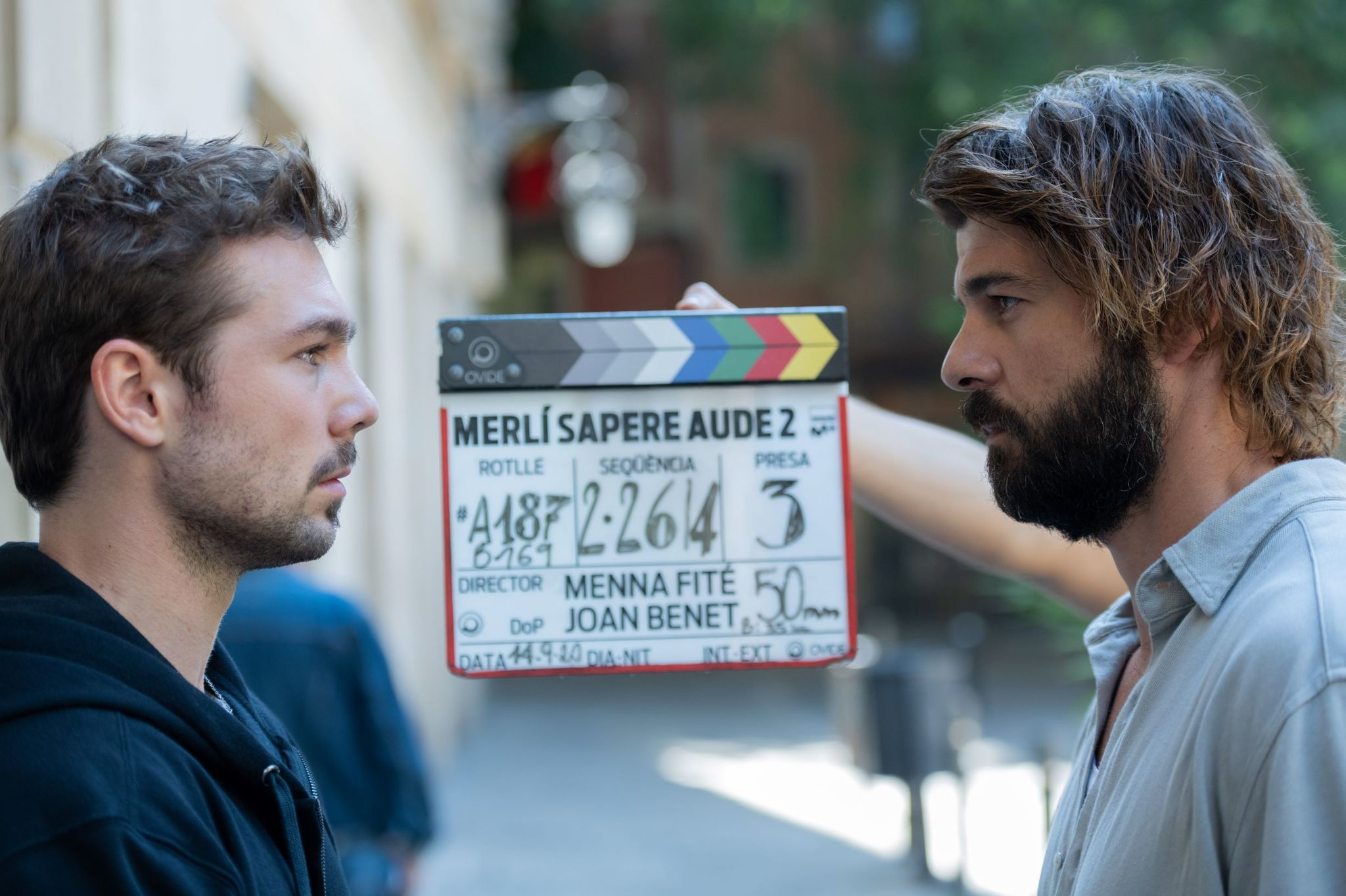 Una de las escenas de Merlí, durante el rodaje