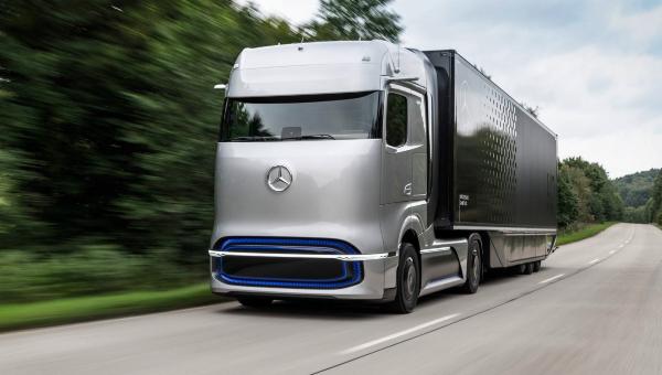 Prototipo del camión Mercedes-Benz GenH2 con 1.000 km de autonomía