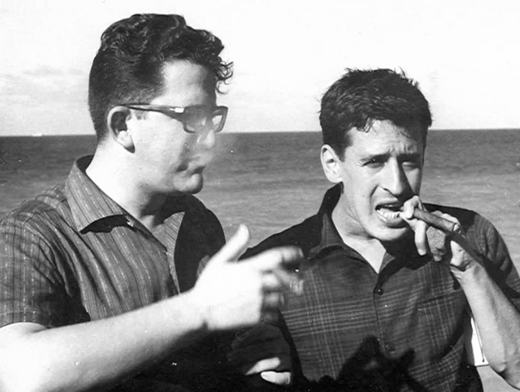 Heberto Padilla y Roque Dalton, en La Habana 1966.