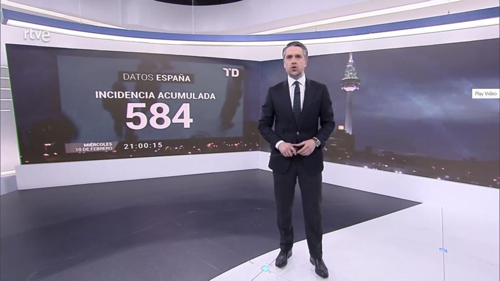 Carlos Franganillo, en el Telediario nocturno