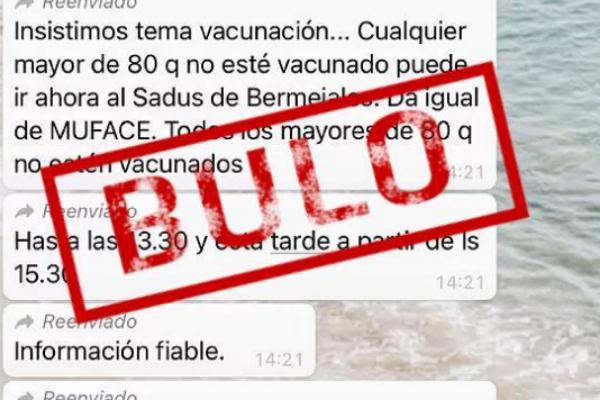 Información falsa difundida por whatsapp.