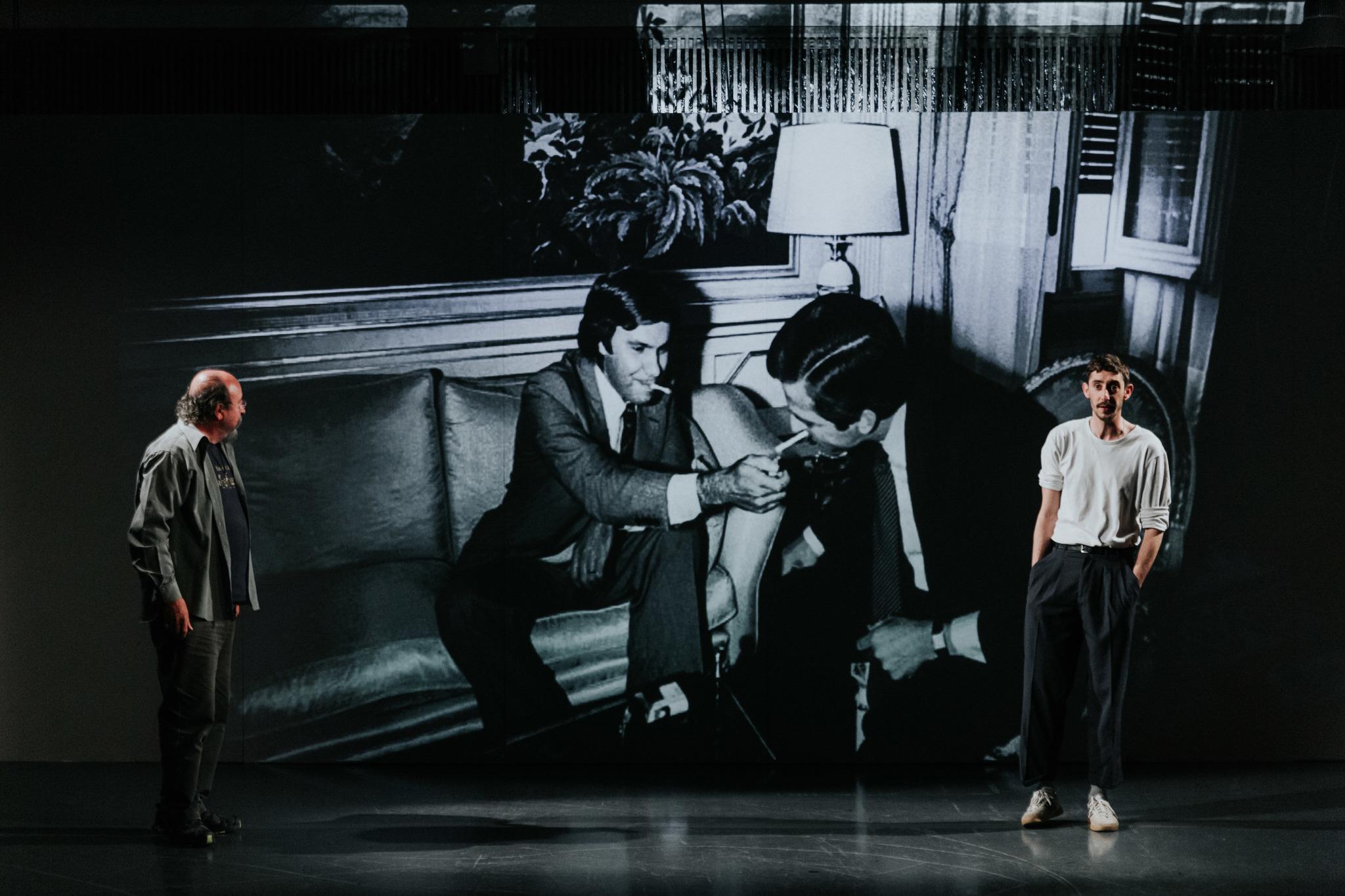 Ensayo de 'Anatomía de un instante' en el Teatre Lliure.