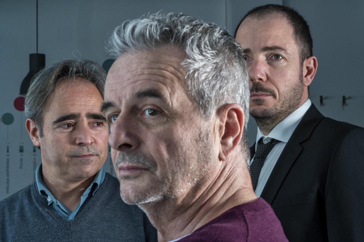 Los tres fundadores de Filmin, Jaume Ripoll, Juan Carlos Tous y José Antonio de Luna
