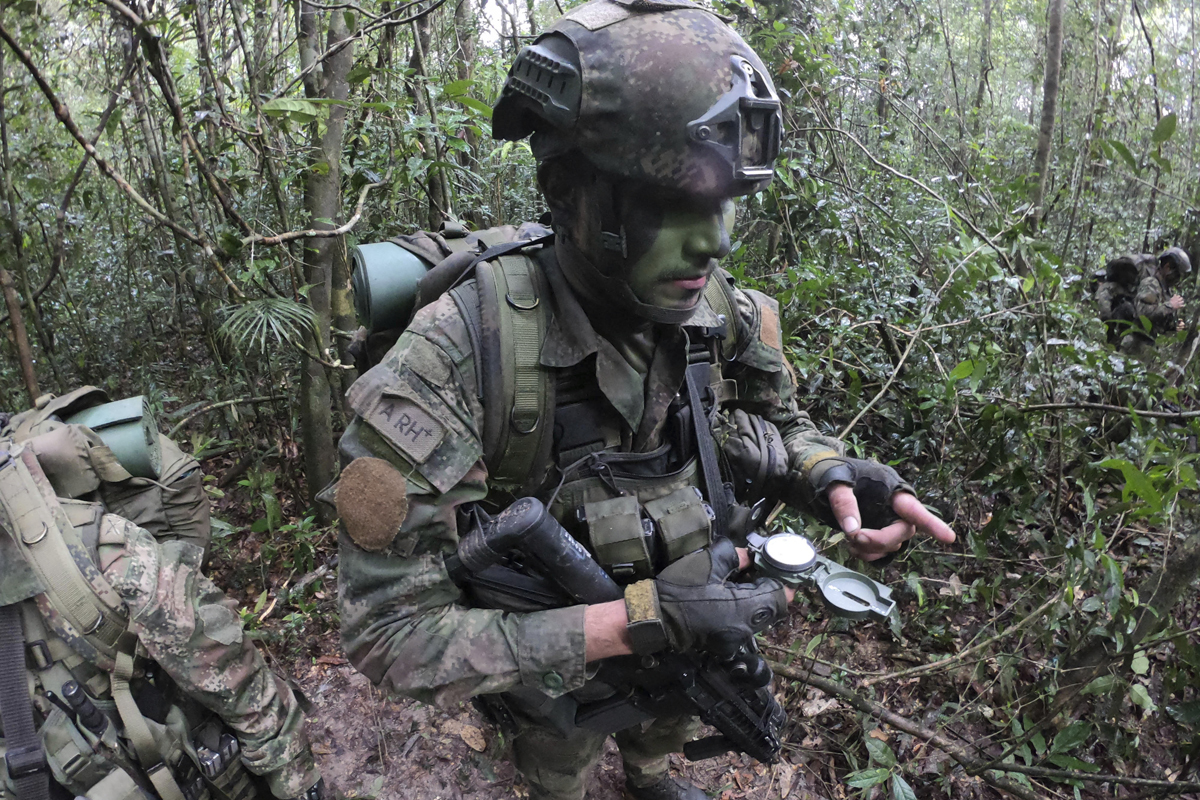 Las Fuerzas Especiales del Ejército de Colombia en Selvas del Guaviare.