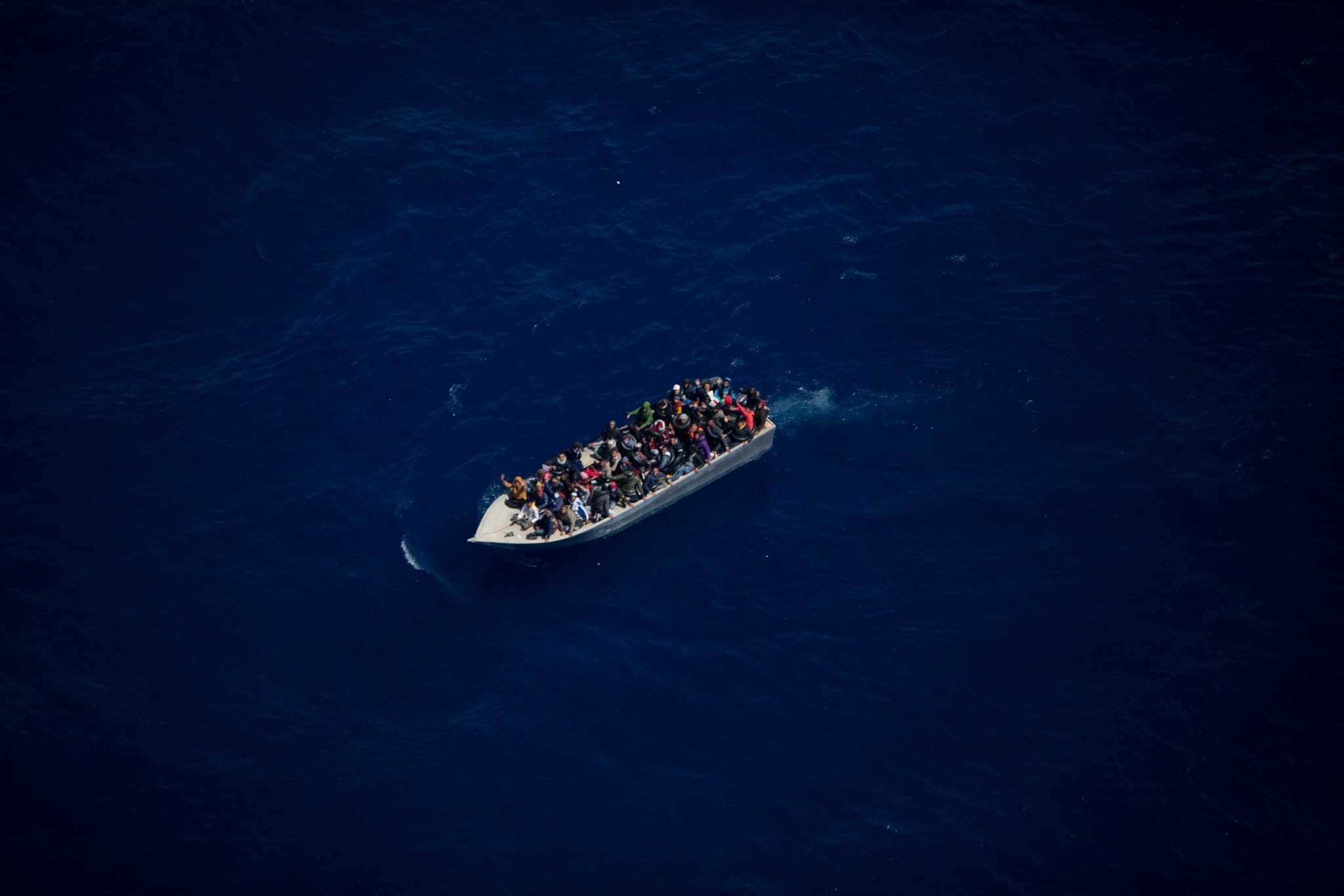 Imagen de una de las embarcaciones difundidas por Sea Watch Italy.