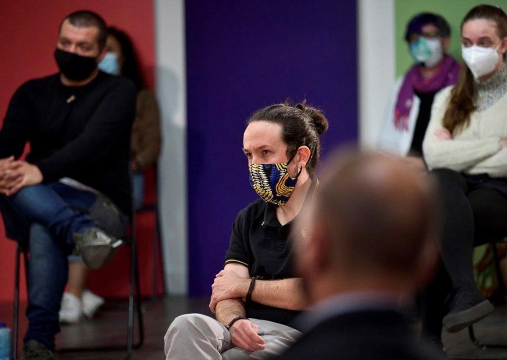 Pablo Iglesias, en un acto de precampaña de Unidas Podemos en Madrid.