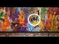 Obra vandalizada del artista estadounidense Jon One.