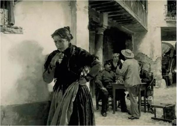 La Dolores, en un cuadro de autor desconocido colgado en el Mesón de Calatayud.